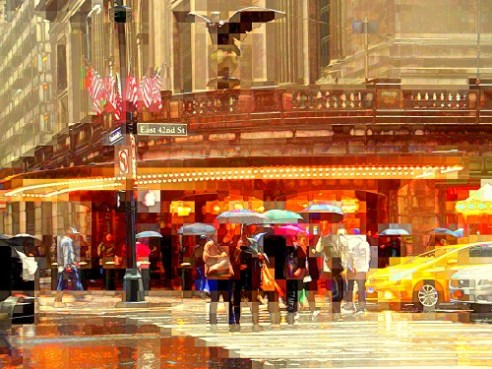 I love a rainy day. Grand Central.