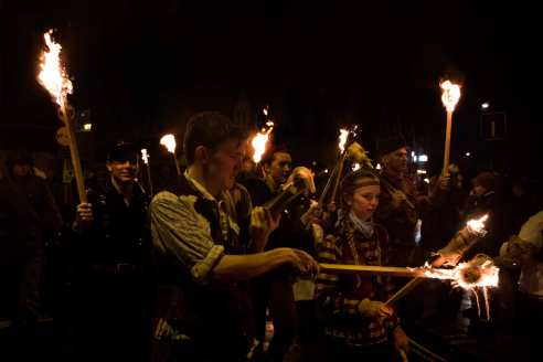 Each bonfire society has a different theme for costume.