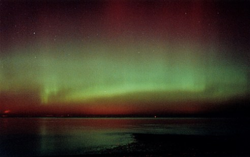 Aurora over Fife, from Musselburgh Aurora Borealis from central Scotland