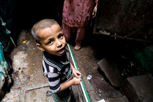 Slum, New-Delhi