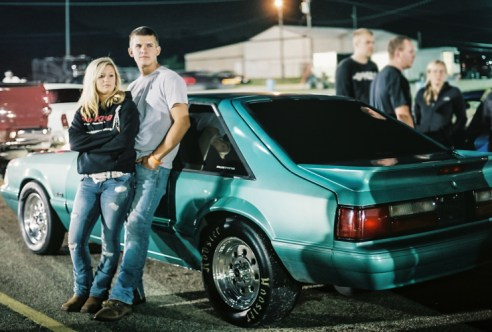 A Couple Waiting to Race, Edgewater Motor Sports Park, Cleves, Ohio, 2015
