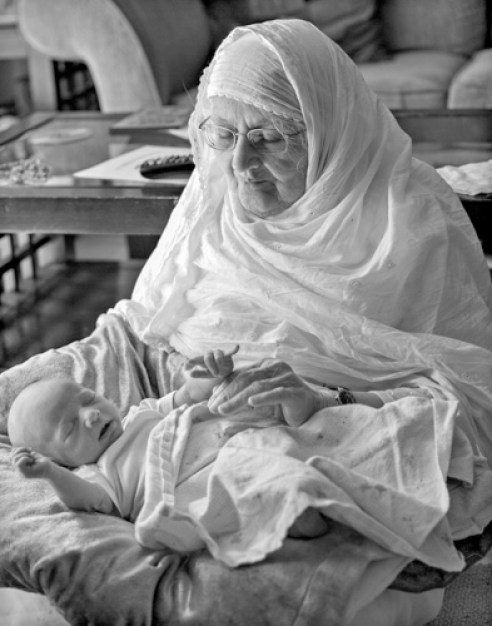 Bashir Khatoom and her great-grandson Raahil Basith, Charlotte, NC