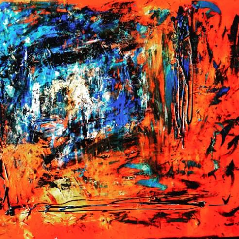 """Graceful Rendition,"" 2016, Acrylic on canvas,"