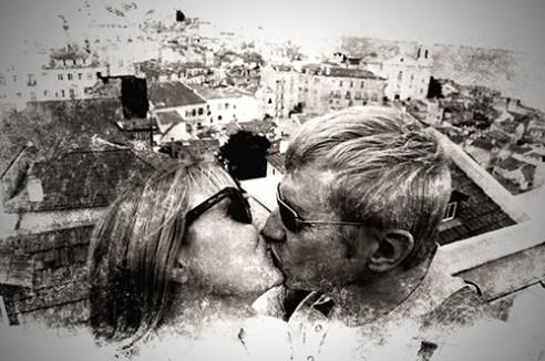 Kiss in Lisbon