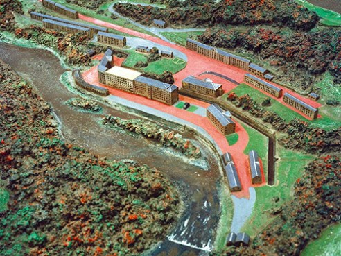 Model village of New Lanark. Designated a UNESCO World Heritage Site in 2001 for its history as an example of utopian socialism, today the village receives 400,000 visitors each year.