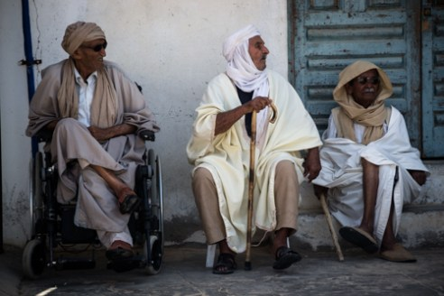 Old men during a rest in the day. TOZEUR
