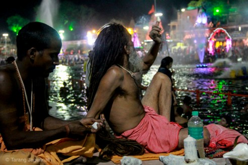 Edge of Humanity Magazine - At Bank of river Shripra - Night Time Ujjain Kumbhmela 2016