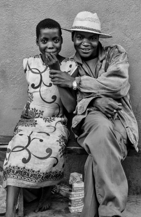 """Sugar Daddy"" and young girlfriend Lilongwe, Malawi"