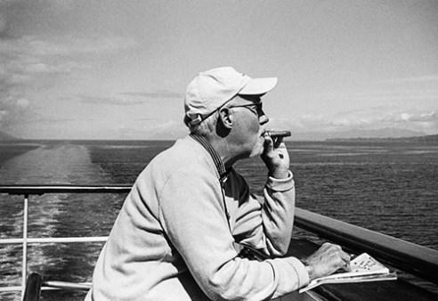 Man with cigar Alaska, USA