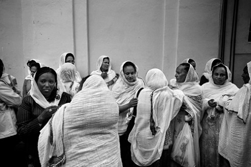 Women after the ceremony.