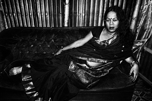 Bobby, 2013 - I left home when i was 14 years old. I am now the Guru of 500 Hijras (trans gender's) making a living under my guidance in Shampur neighborhood.