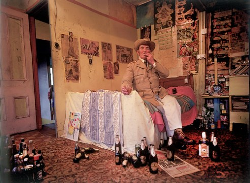 Mick Murphy in his bedroom , Cahirciveen, Co Kerry, Ireland