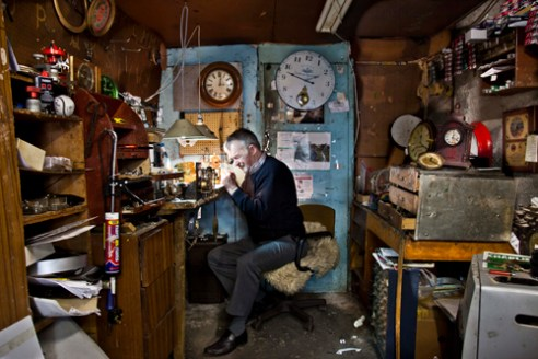 Watch and clock repairer, Ennis Co Clare, Ireland