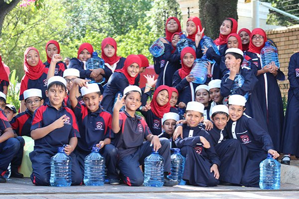 Learners from the Houghton Muslim Academy helped Operation Hydrate at a recent water drive at the Nelson Mandela Foundation. The initiative collected more than R55-million on the day.