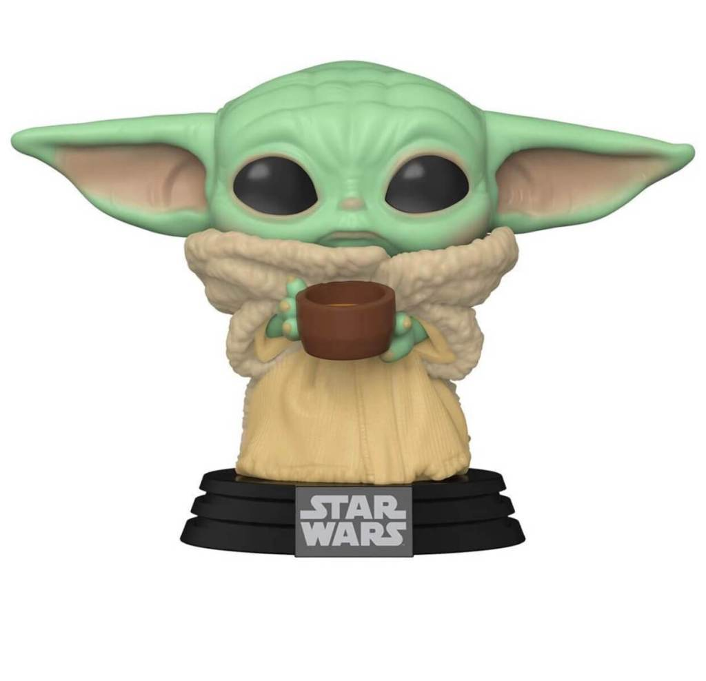 Baby Yoda POP with cup