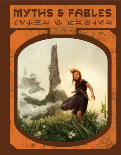 Cover to Myths & Fables, Galaxy's Edge edition