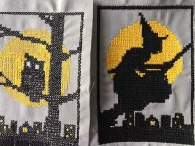 Cross stitch to be made into tiny ornaments
