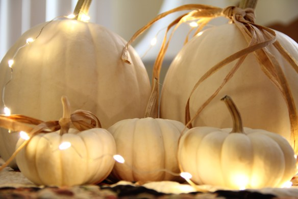 Neutral, white pumpkin