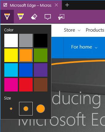 Edge - Note - Pen color