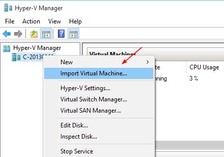 Hyper-V - Import