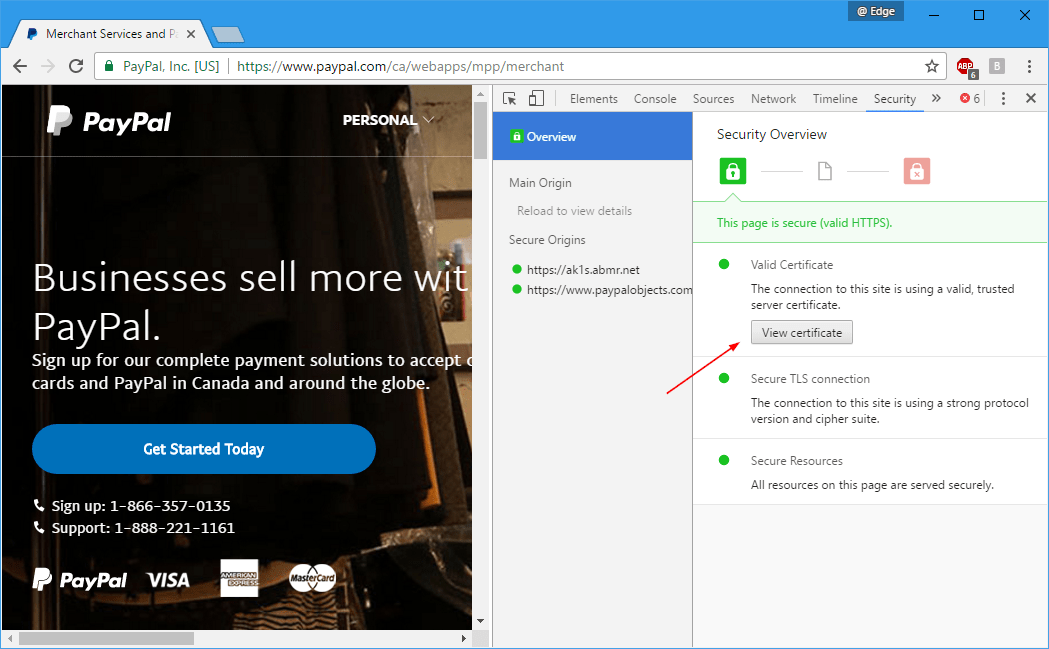 How To View Websites Ssl Certificate Details In Chrome Edge Talk