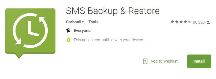 Sms backup faq