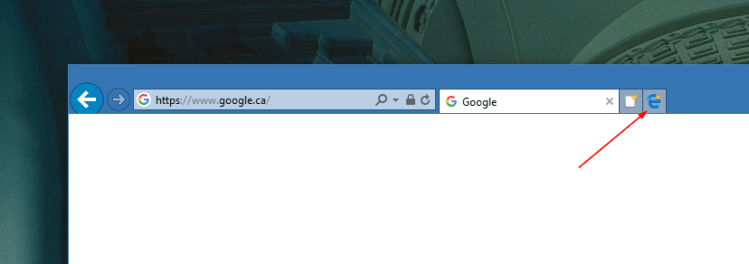 Edge icon on IE toolbar