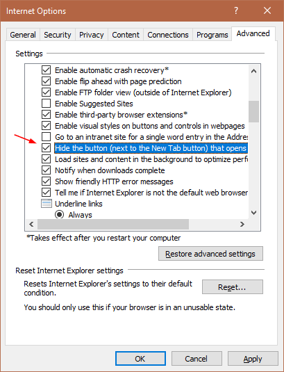 how to remove internet explorer from windows 10