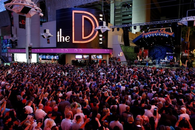 Fremont Street Concert Outside of The D Las Vegas