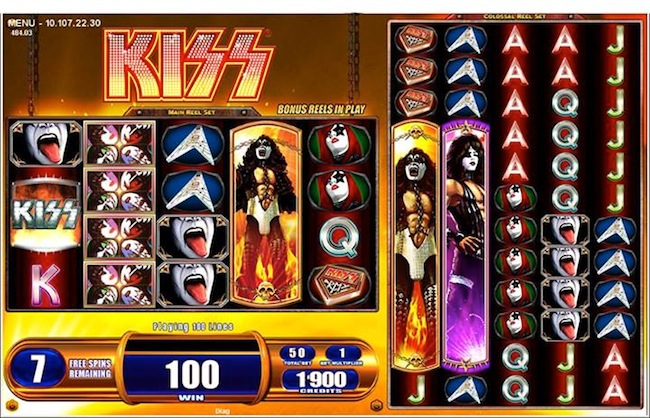KISS Colossal Reel Slot Machine By WMS Gaming
