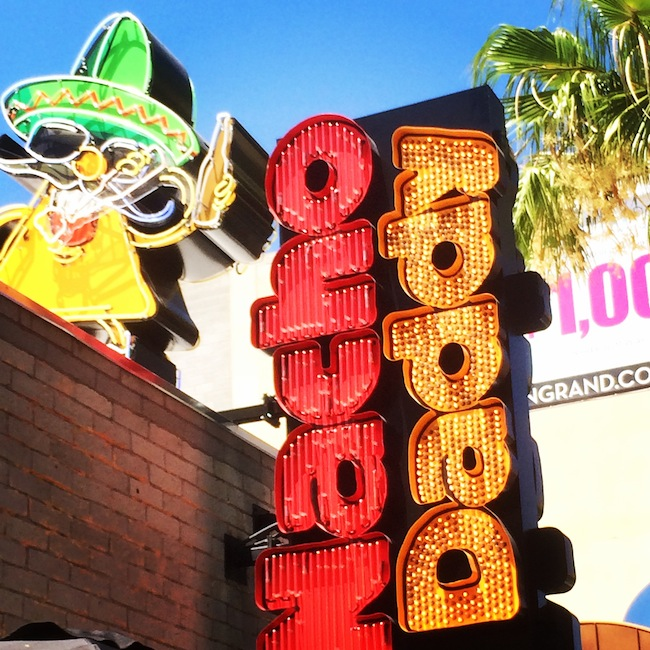 Nacho Daddy Sign Downtown Las Vegas