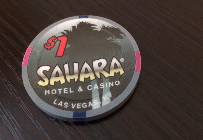 $1 Chip Sahara Casino Las Vegas