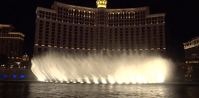 Tiesto Fountain Show At Bellagio Las Vegas