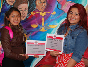 Jefferson High students Nora Campos and Blanca Mejia worked hard for their honorable recognitions.
