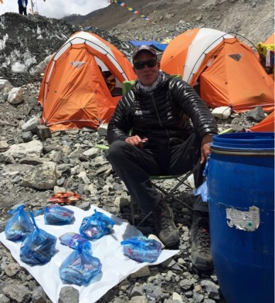 Picture of James Lumberg at base camp from his blog