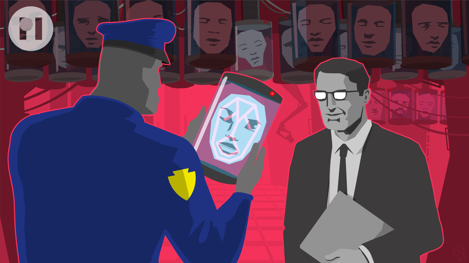 FACIAL RECOGNITION ILLUSTRATION FOR PRIVACY INTERNATIONAL