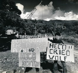 He`eia Kea residents successfullyresisted Hawaiian Electric efforts to evict the 11 families of He1=`eia Kea. 2985-4-3 6-18-75