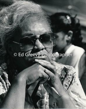 Audrey Mamala, Sand Island Resident Meeting 1980