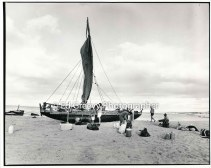 Maui double hull canoe onKaho olawe 5013-1-12 10-80
