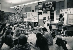 Surfers and students discuss environmental issues at %22Shoreline in Crisis%22 conference at Roosevelt HS. 25-21-5-1 1972