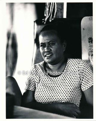 Mokuaea resident Ethel kilaulani at her island home. 4053-2-11 4-20-79