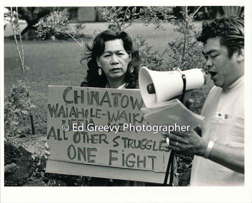 heeia-kea-resident-christine-ferreia-supports-waiahole-waikane-residents-eviction-protest-at-landlord-mrs-marks-nuuanu-house-2965-4-23-4-7-76