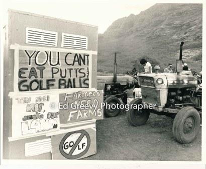 Higa Farm rally against development. 6086 3-88