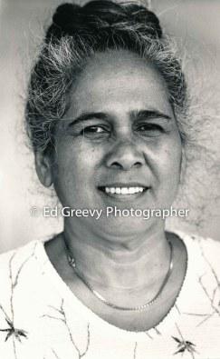 Judy Napolian on Moloka`i. 3-29-87