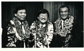 Roland Kotani, center, with State House members. 6075 1-88