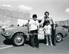 Two Little Brothers at start of road rally. 2554 1972
