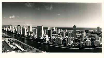 Waikiki from Marco Polo condo. 1991