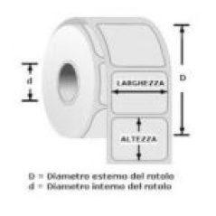 Etichette adesive personalizzate rotoli o fanfold