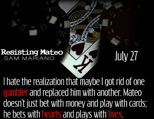 Cover Reveal – Resisting Mateo by Sam Mariano