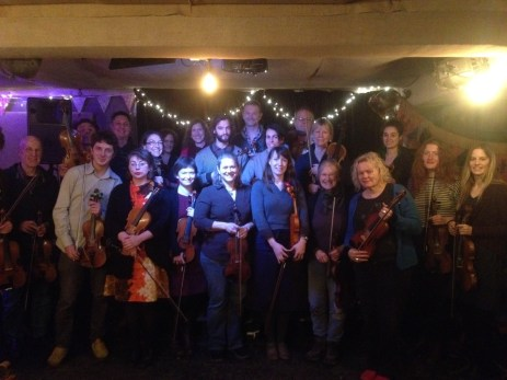 Fiddle workshop taught by Emily Schaad for the Trad Academy